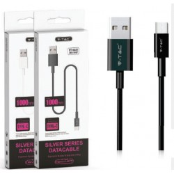 1 M Micro USB Cable Black - Silver Series