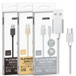 1 M Micro USB Cable Black - Platinum Series