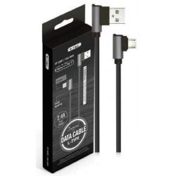 1 M Micro USB Cable Black - Diamond Series